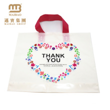 Custom design biodegradable design your own logo printed plastic loop handle thank you bags